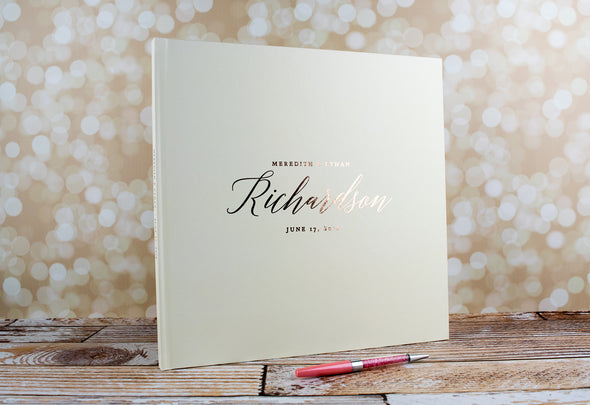 Traditional Personalized Foil Wedding Guest Book, GB186PF