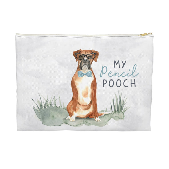 Boxer in a Bow Tie Pencil Pouch