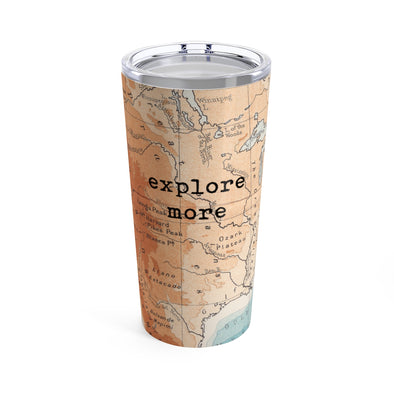 Retro Explore More Drink Tumbler, 20 oz.