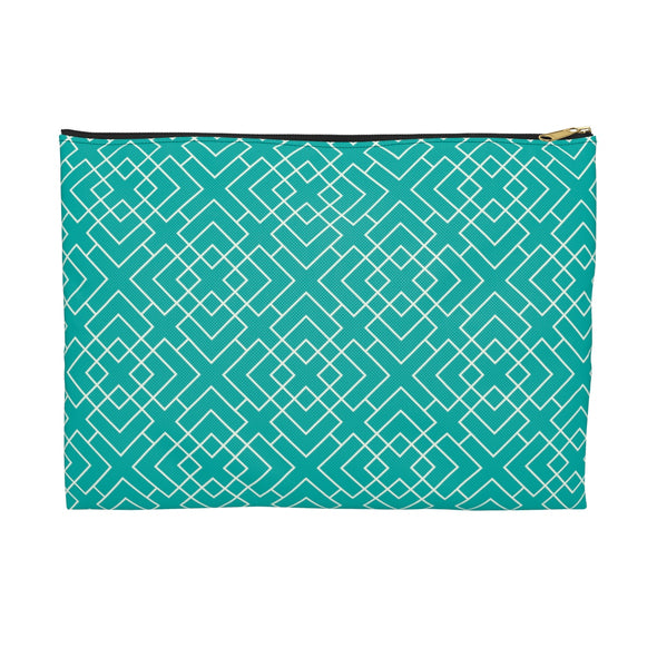 Pattern Accessory Pouch, Teal