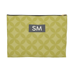 Personalized Circle Pattern Accessory Pouch, Green