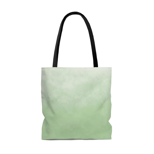 Watercolor Ombre Tote Bag, Fresh Green