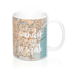 Let's Wander Coffee Mug, 11oz