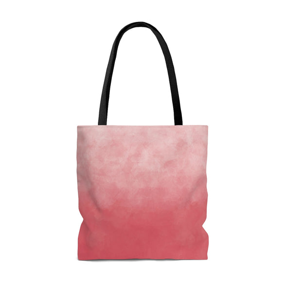 Watercolor Ombre Tote Bag, Spring Pink