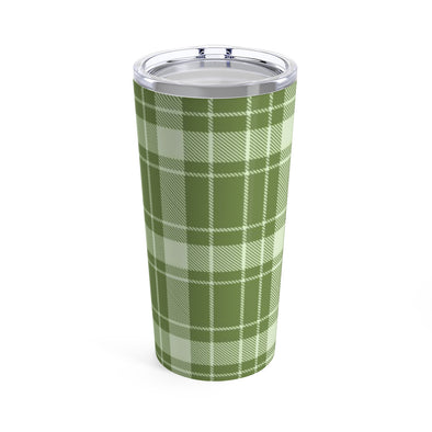 Green Buffalo Plaid Drink Tumbler, 20 oz.