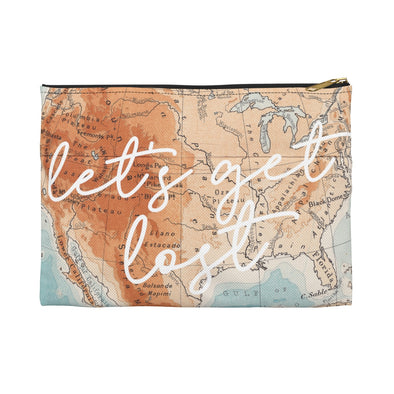 Let's Get Lost Travel Pouch