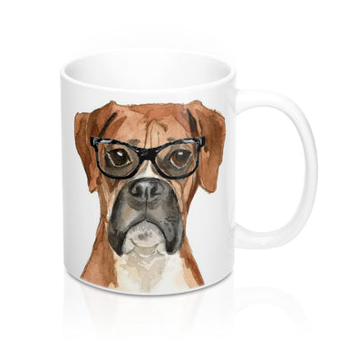Hipster Boxer Coffee Mug, 11 oz