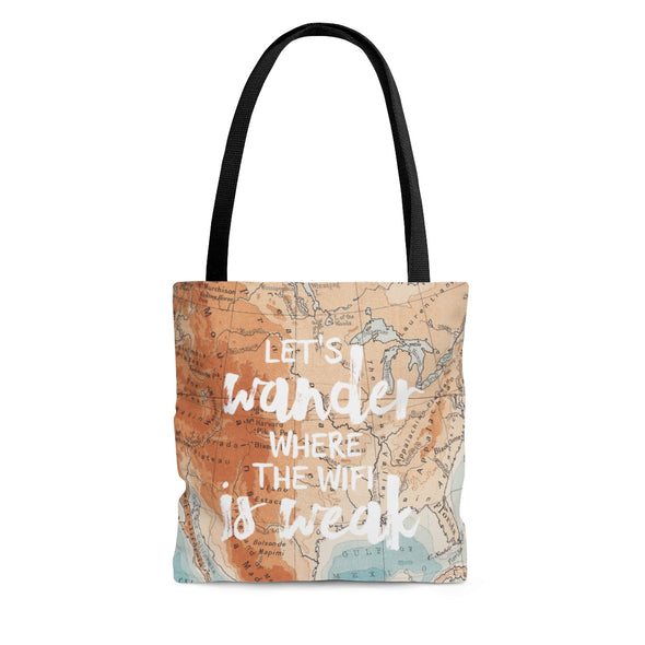 Let's Wander Tote Bag