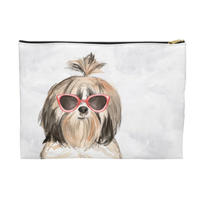 Shih tzu with Sunglasses Pooch Pouch