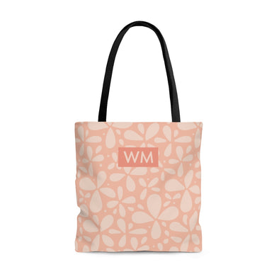 Fun Personalized Flower Tote Bag