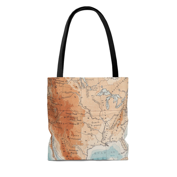 Vintage Map Explore More Tote Bag