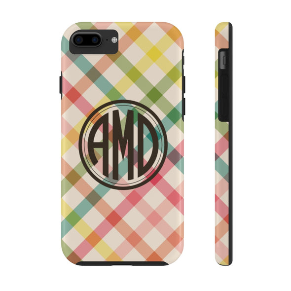 Personalized Spring Plaid Phone Case