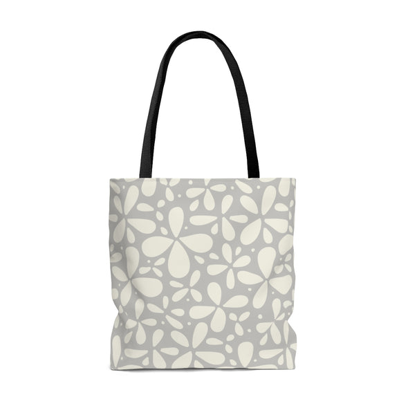 Fun Taupe Flower Tote Bag