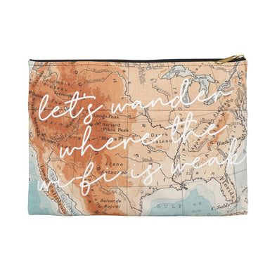 Let's Wander travel pouch