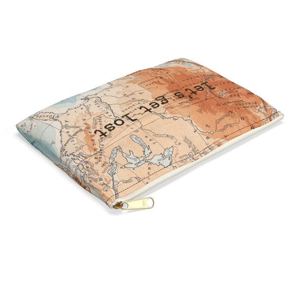 Retro Print Let's Get Lost Travel Pouch