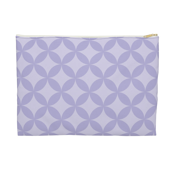 Circle Pattern Accessory Pouch, Lavender