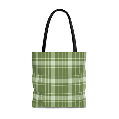 Buffalo Plaid Tote Bag, Garden Green