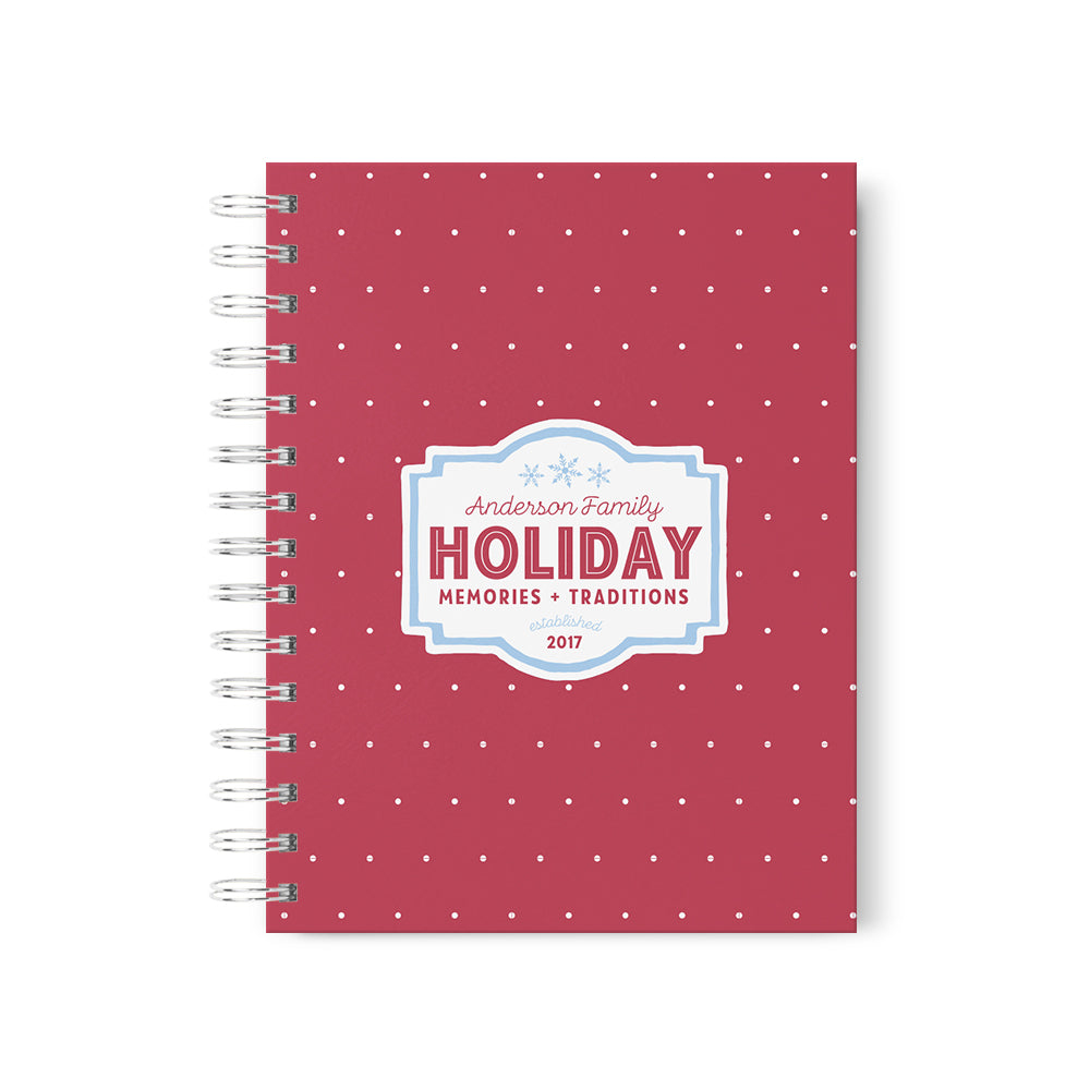 Family Holiday Memories Personalized Scrapbook
