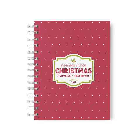 Christmas Memories Personalized Scrapbook