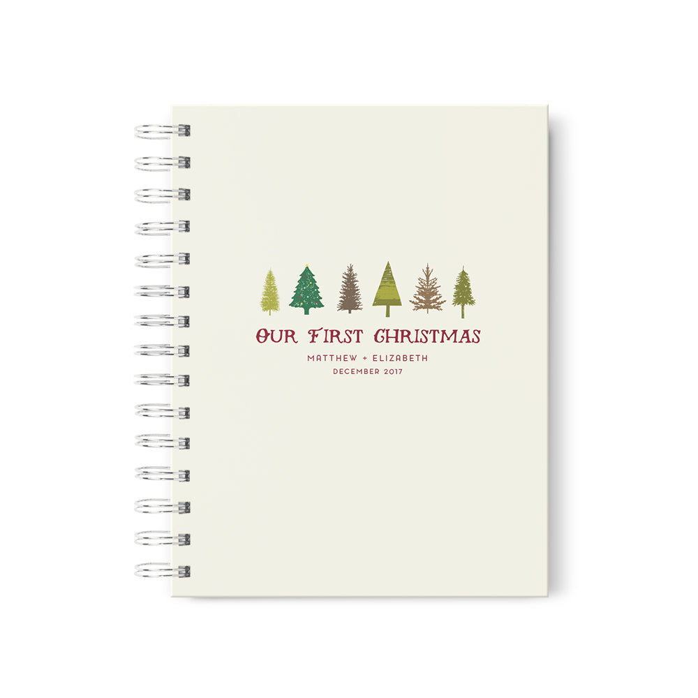Rustic Christmas Trees Personalized Scrapbook