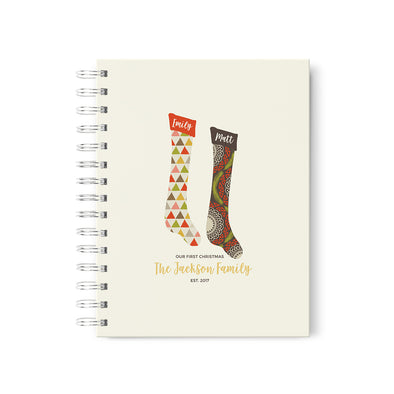 Christmas Stocking Personalized Scrapbook