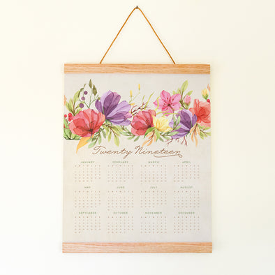 Colorful Florals 2019 Calendar