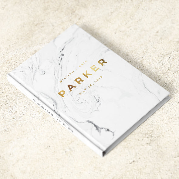 Modern Marble Foil Wedding Guest Book, GB219PF