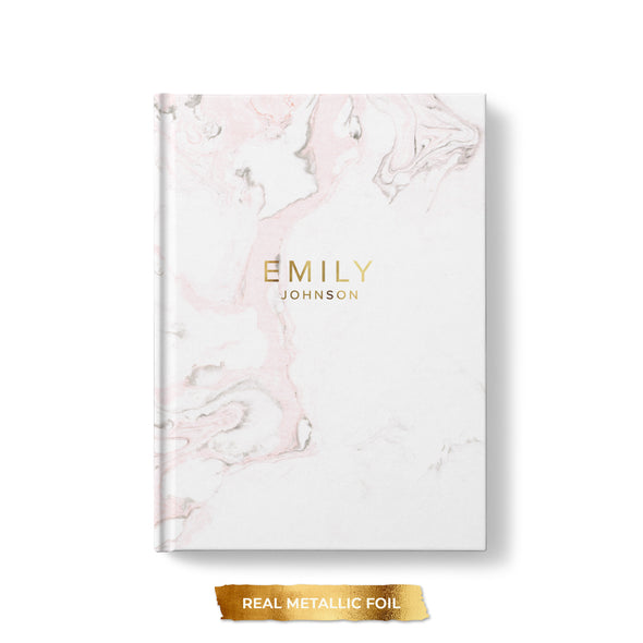 Simple Foil Hardcover Personalized Journal