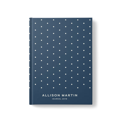 Polka Dot Hardcover Personalized Journal