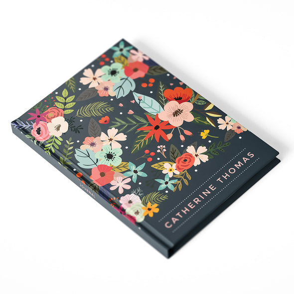 Bold Floral Hardcover Personalized Journal