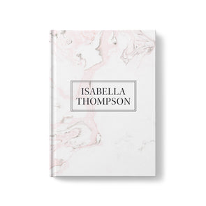 Modern Marble Hardcover Personalized Journal
