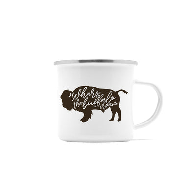 Where The Buffalo Roam Camp Mug, 10 oz