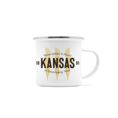 Wheat State Kansas Camp Mug, 10 oz