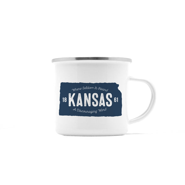 Rustic State of Kansas Camp Mug, 10 oz
