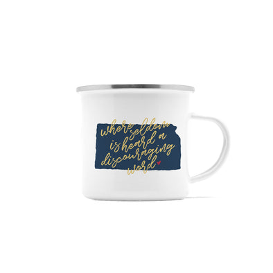 Seldom A Discouraging Word Kansas Camp Mug, 10 oz