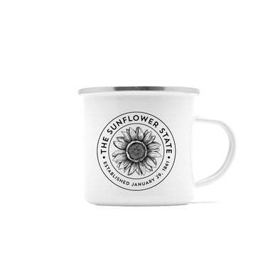 Sunflower State Kansas Camp Mug, 10 oz