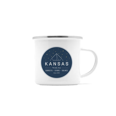 Sunsets & Stars Kansas Camp Mug, 10 oz