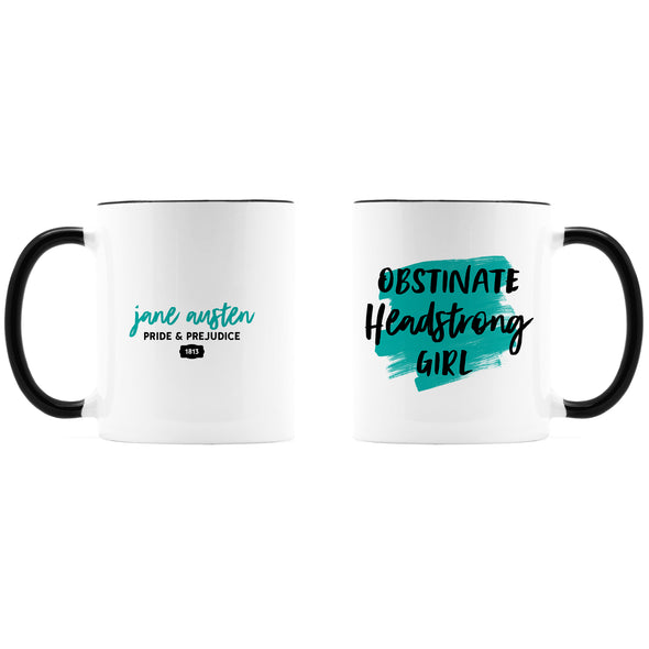 Headstrong Girl Jane Austen Coffee Mug, Ceramic, 11 oz