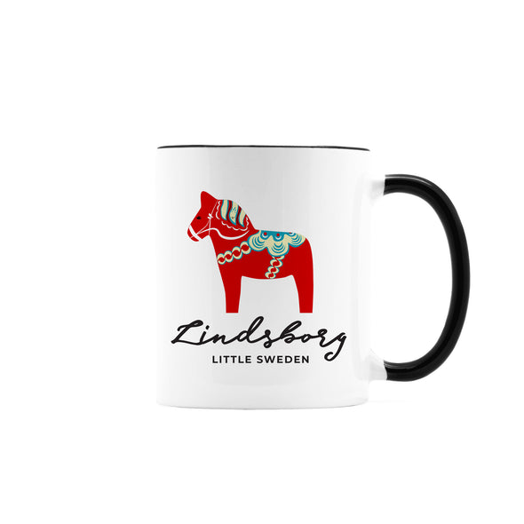 Lindsborg Dala Horse Coffee Mug, Ceramic, 11 oz