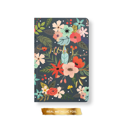 Bold Floral Foil Notebook, Spiral or Perfect Bound