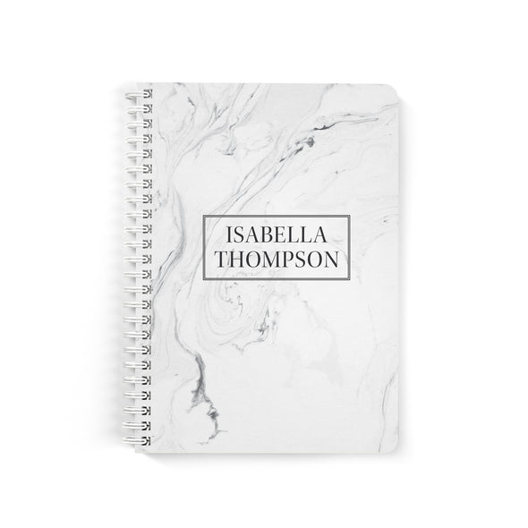 Modern Marble Petite Personalized Notebook, Spiral Bound