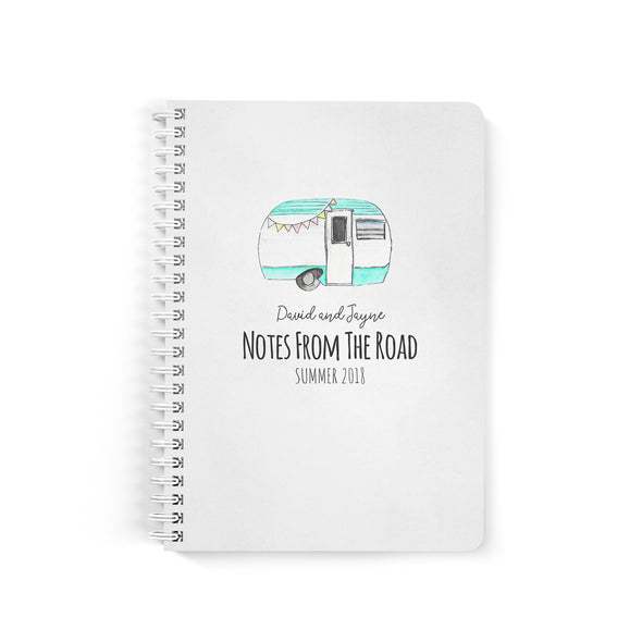 Retro Personalized Camper Travel Journal