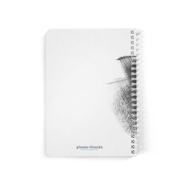Brush Stroke Petite Personalized Notebook, Spiral Bound