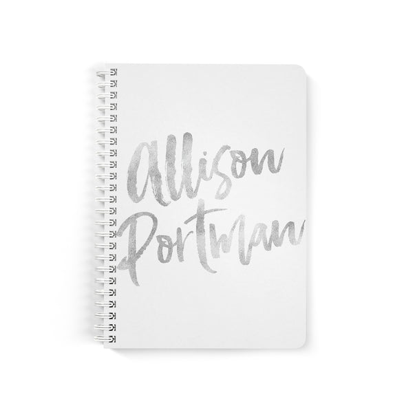 Simple Brush Script Petite Custom Notebook, Spiral Bound