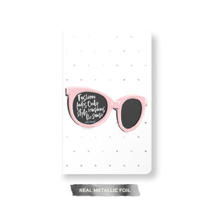 Fun Fashion and Foil Notebook, Spiral or Perfect Bound