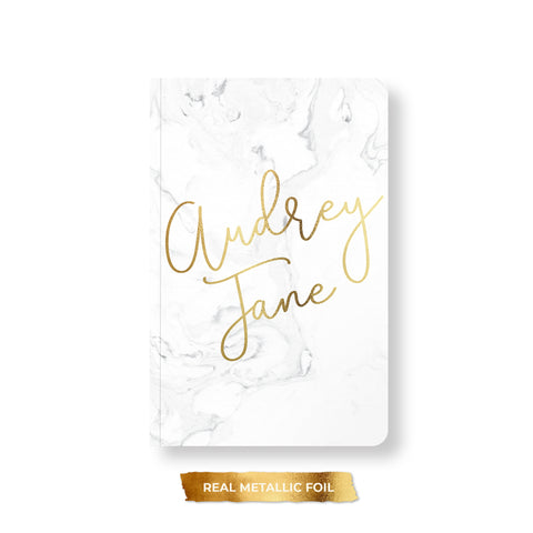 Chic Marble Foil Notebook, Spiral or Perfect Bound