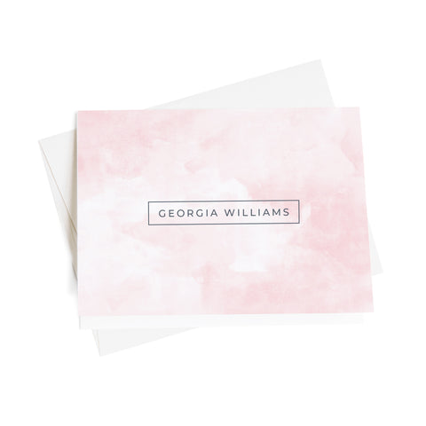 Watercolor Personalized Note Cards, 10 Card Set