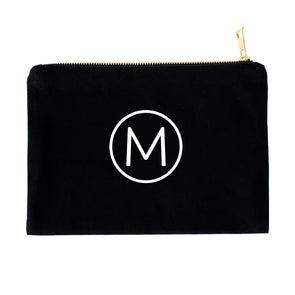 Modern Circle Monogram Personalized Cosmetic Bag