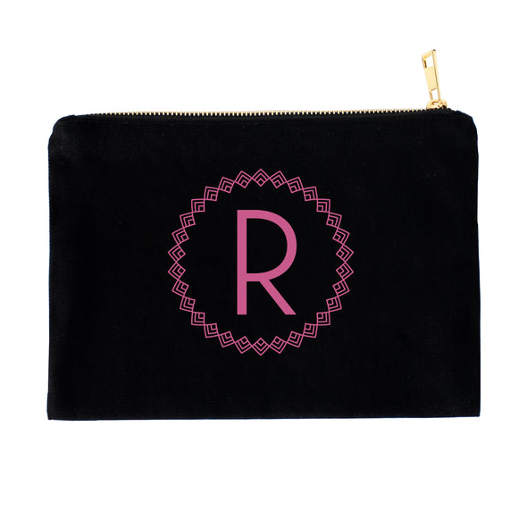 Art-deco Inspired Monogram Personalized Cosmetic Bag