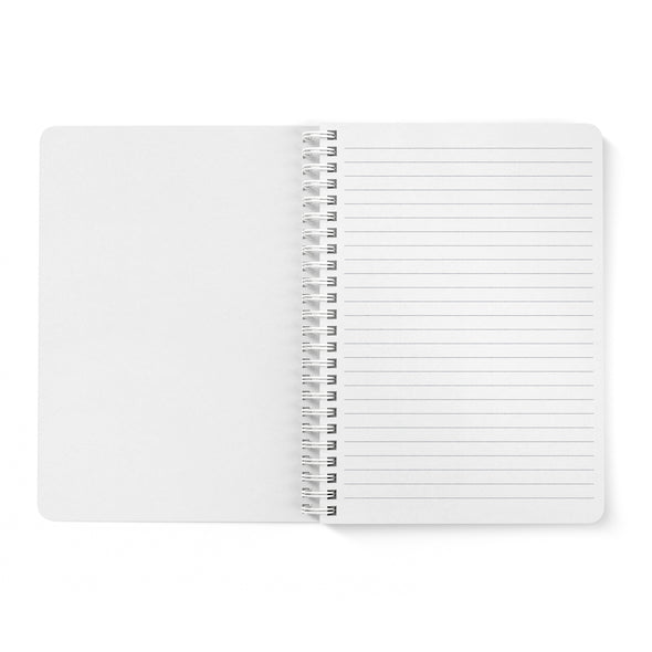 Modern Geometric Petite Personalized Notebook, Spiral Bound